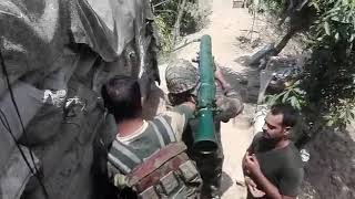 Live firing at india pak border (jammu kashmir)