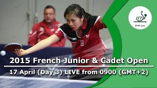 2015 French Junior & Cadet Open – Day 3 LIVE