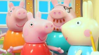 Missing Madame Gazelle    Peppa Pig Stop Motion   Peppa Pig Toy Play