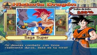 Dragon Ball Z Budokai Tenkaichi 4 - Modo historia - Goku Saiyan God VS Bills God of destruction #1