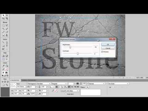 Adobe Fireworks Tutorial on How To Make Inlay and Emboss Textured Text Logo Effects