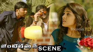 Gentleman Movie Scenes - Nani Intro - Nani Falls In Love With Niveda Thomas At Church