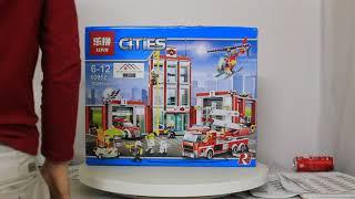 Mở hộp Lepin 02052 Lego City 60110 Fire Station giá sốc rẻ nhất