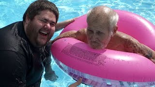 ANGRY GRANDPA GOES SWIMMING!!