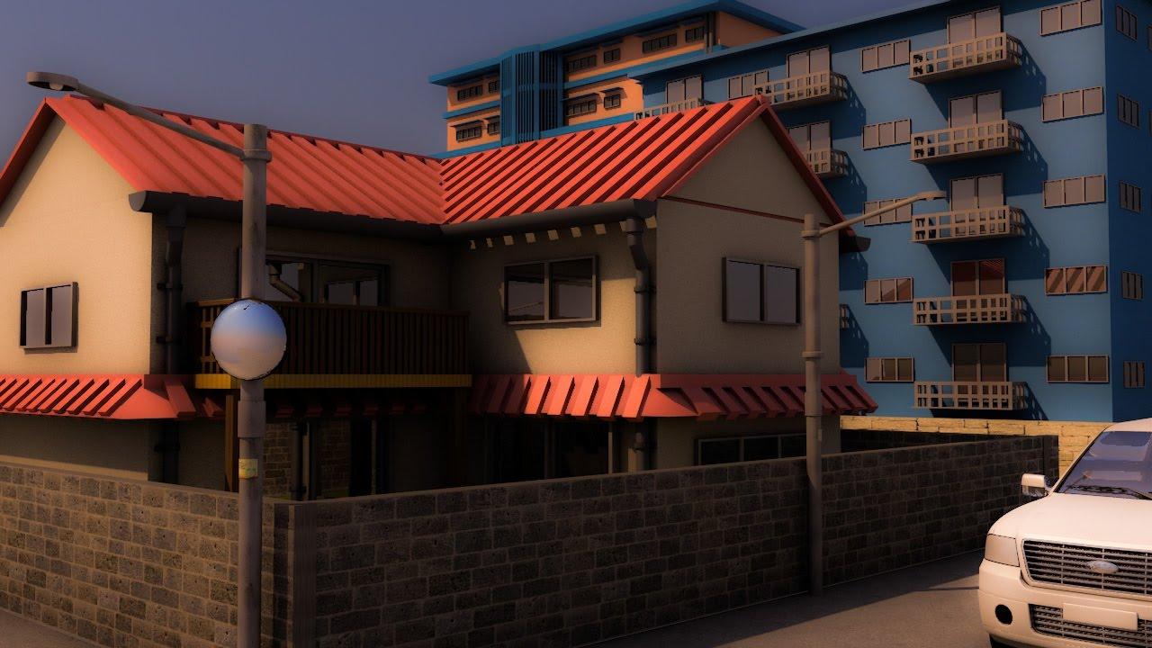 Cinema 4d house model