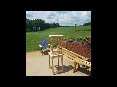 How to build a farm style bar stool.