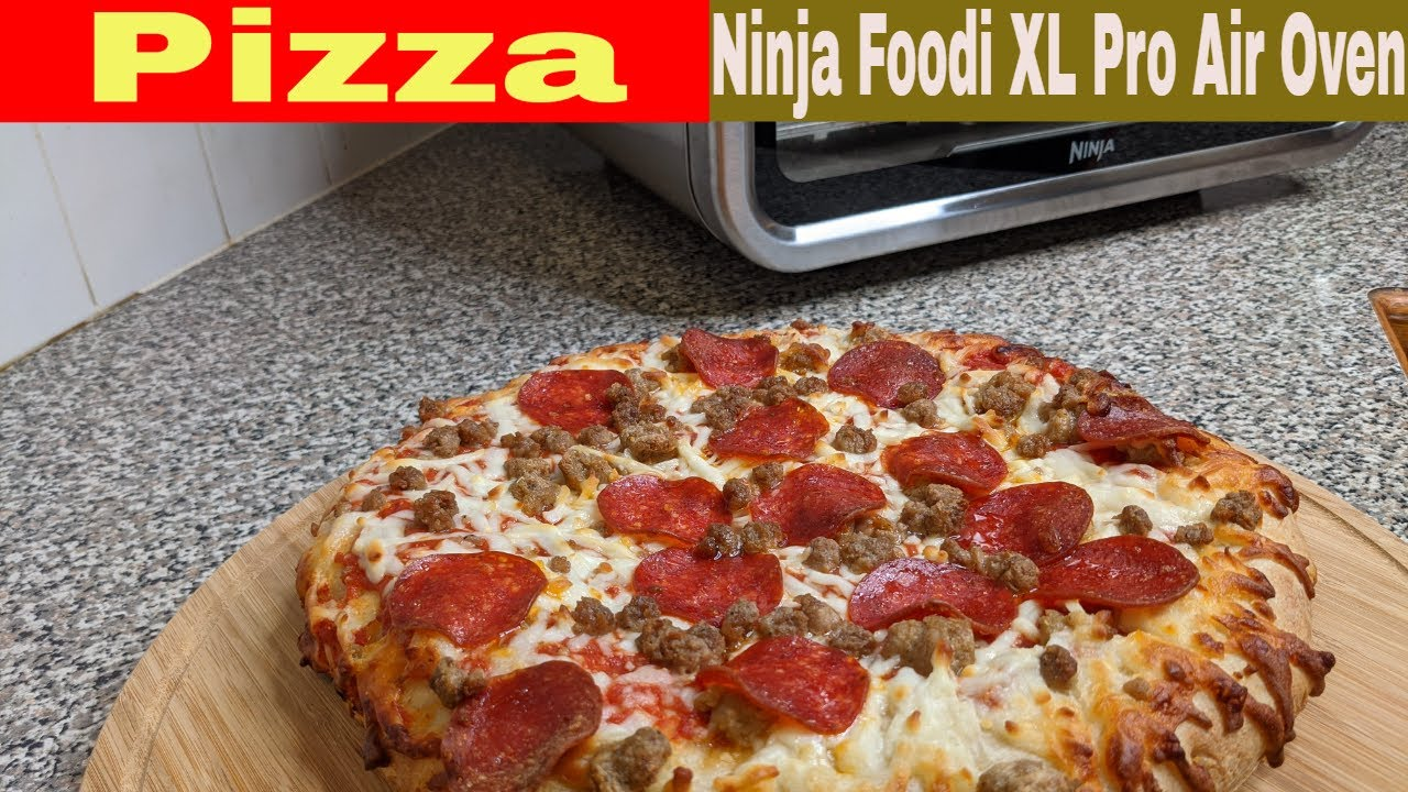Frozen Pizza, Ninja Foodi XL Pro Air Oven Heating