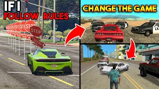If I FOLLOW TRAFFIC RULES then CHANGE THE GAME ! (From GTA 5 to GTA 1)