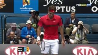Roger Federer v. Ivo Karlovic | Australian Open 2012 R3 Highlights HD