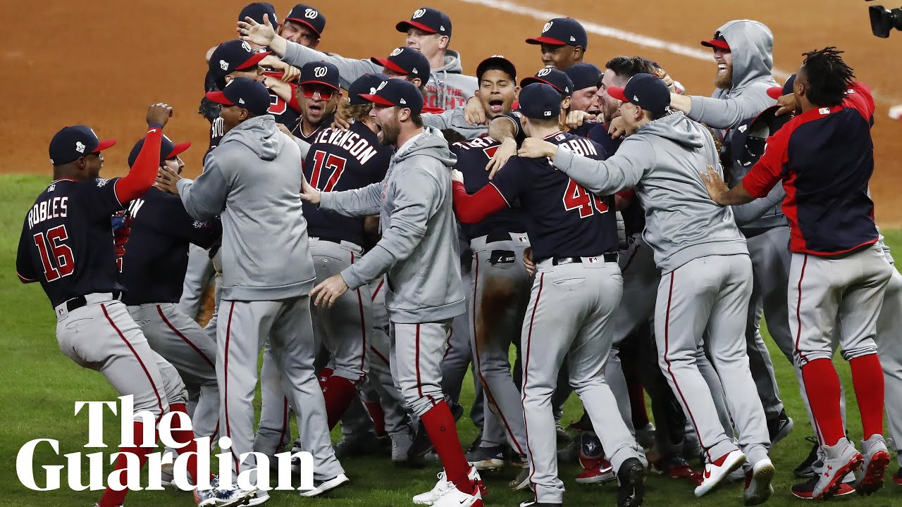 Image result for Nationals erupt late in Game 7 thriller to stun Astros for first World Series crown