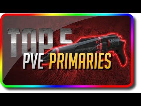 """Destiny 2 - """"Top 5 PvE Primary Guns"""" in Jokers Wild (Destiny 2 Jokers Wild DLC """"Top 5"""")"""