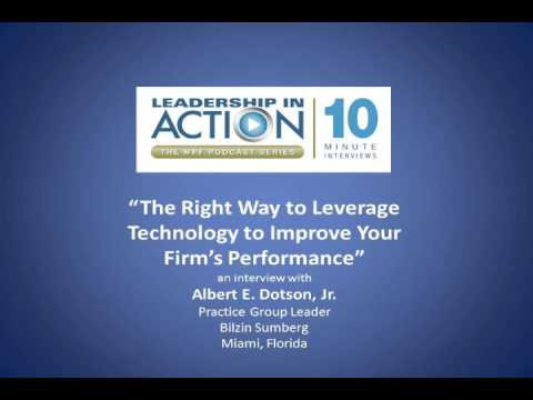 The Right Way to Leverage Technology to Improve Your Firm's Performance