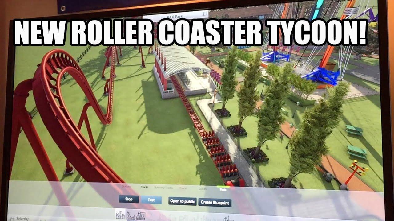 Roller Coaster Tycoon World Real Gameplay Demo RollerCoaster Crash Pax  Prime 2015 Atari