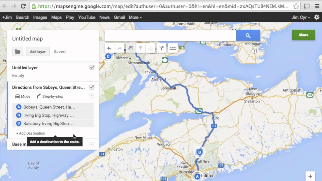 How To Import Google Maps Directions Routes To Garmin Basecamp