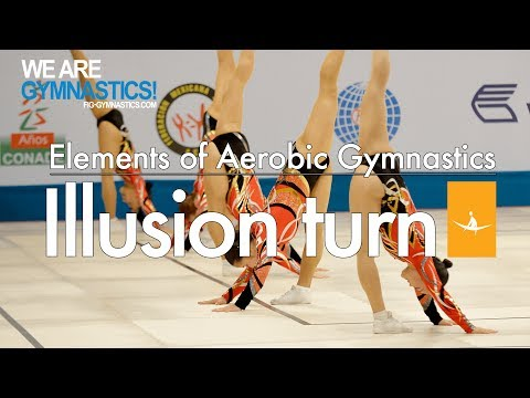 Elements of Aerobic Gymnastics - ILLUSION TURN