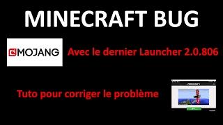 Minecraft Bug launcher 2.0.806 Impossible de rejoindre les serveurs | Tuto pour corriger tout ça !