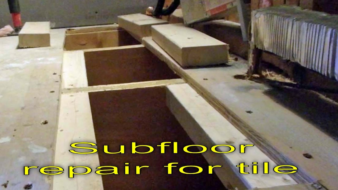 plywood subfloor repair for tile installation