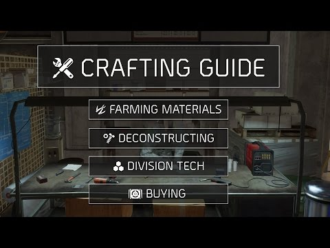 The Division™ 1.6 - Crafting Guide (Farming, Crafting and Recalibrating)