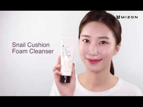 【韓國MIZON】蝸牛精華清潔洗面乳120ml   使用示範