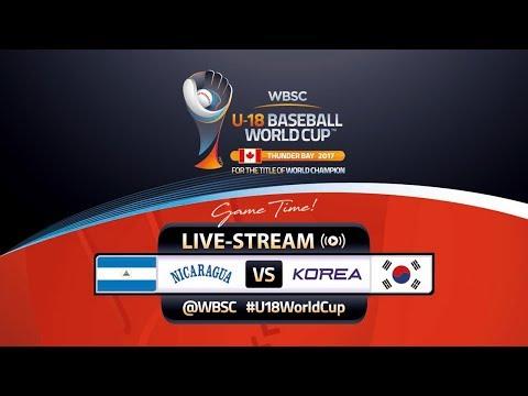 Nicaragua v Korea - WBSC U-18 Baseball World Cup 2017