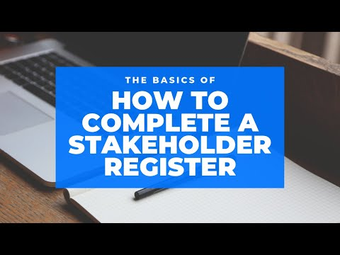 How to Complete a Stakeholder Register