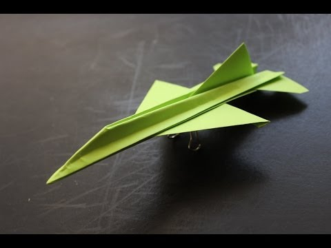 Thumbnail: How to make a cool paper plane origami: instruction| F16