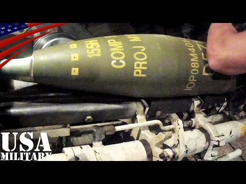 M109 155mm自走榴弾砲・砲塔内部映像 -  M109 155mm Self-propelled Howitzer - Gun Turret Inside
