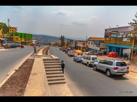 Spectacular view of the new Road Kigali City Centre Roundabout to Nyabugogo