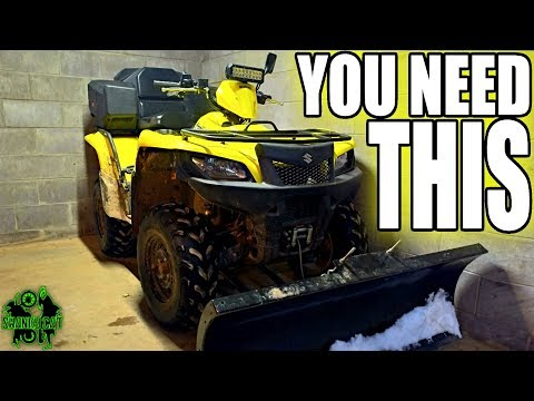 LED Light Bar Install On ATV Plow Rig | BEST IDEA EVER