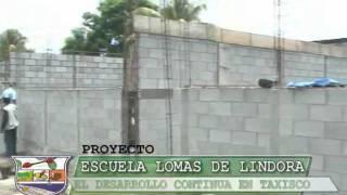 Lic. Otto Peralta Alcalde Municipal de Taxisco, Escuela Lomas de Lindora
