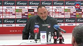 Pressekonferenz mit Frank Schmidt vor dem Heimspiel gegen Dynamo Dresden