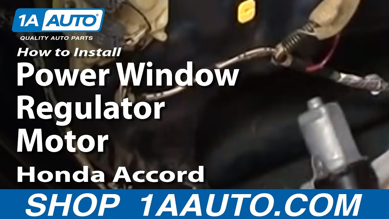 How To Install Repair Replace Rear Power Window Regulator Motor 1999 Honda Accord Control Panel 98 02 1aautocom Youtube