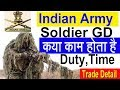 Indian Army Soldier General Duty क्या है Konse Post hai ,Duty, Work ,Time ,Trade Means