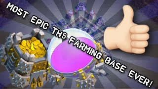 EPIC TH5 FARMING BASE / CLASH OF CLANS SPEED BUILD