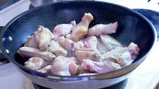 Зеленый Кари с курицей. Тайская кухня.