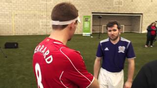 Merseyside Blind FC take part in special training session at Melwood