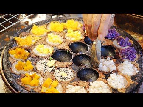 coconut-rice-rancakes-タイのお菓子カノムクロック(khanom-khrok;-ขนมครก)---thai-street-food