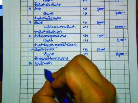 แบบฝึกหัดการบันทึกสมุดรายวันทั่วไป บทที่ 2 ข้อ 1
