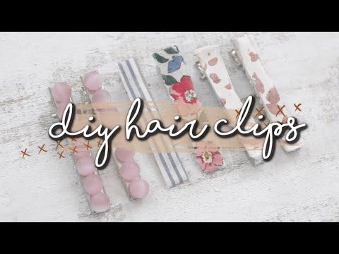 3 EASY DIY HAIR CLIPS