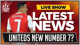 Alexis SANCHEZ Is MANCHESTER UNITED'S Number 7? MAN UTD Transfer news