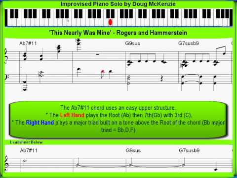 'This Nearly Was Mine' - solo jazz piano lesson