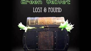 green velvet - silver droplets