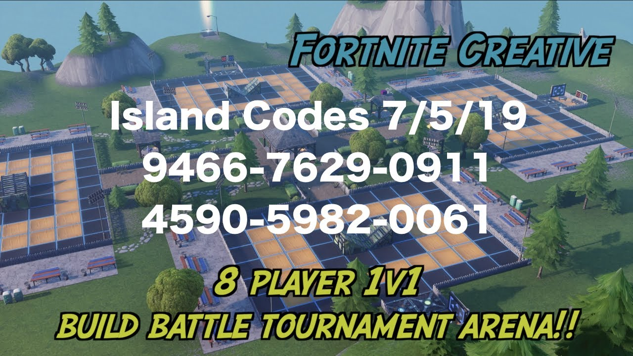 This creative map provides a place to do build battles