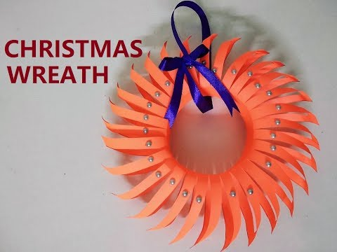 How to make a Christmas Wreath | DIY Paper Christmas Wreath | Origami Christmas Wreath