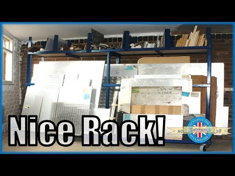 Sheet Metal and Offcuts Storage Rack