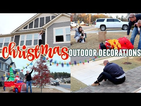 CHRISTMAS DECORATE WITH ME   OUTDOOR DECORATIONS   CHRISTMAS 2019