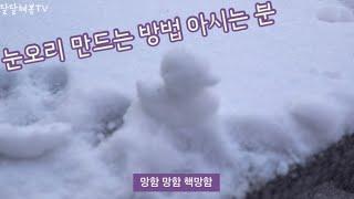 눈오는 날 가정보육 :: 눈오리 만들기, 아기간식 고구…