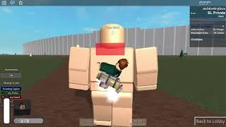 Roblox AoT: U prática de matar Titan.