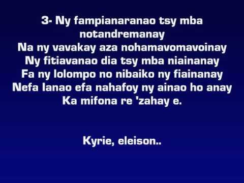 KYRIE ELEISON REO ZAVA-BOAHARY