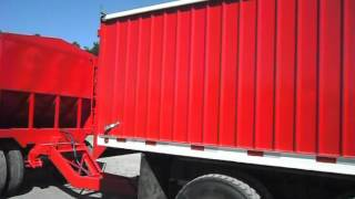 Grain truck and pup trailer combo